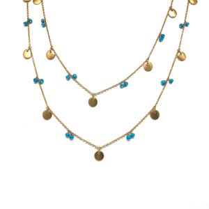 Danielle Disc Necklace - Topaz Custom Jewelry