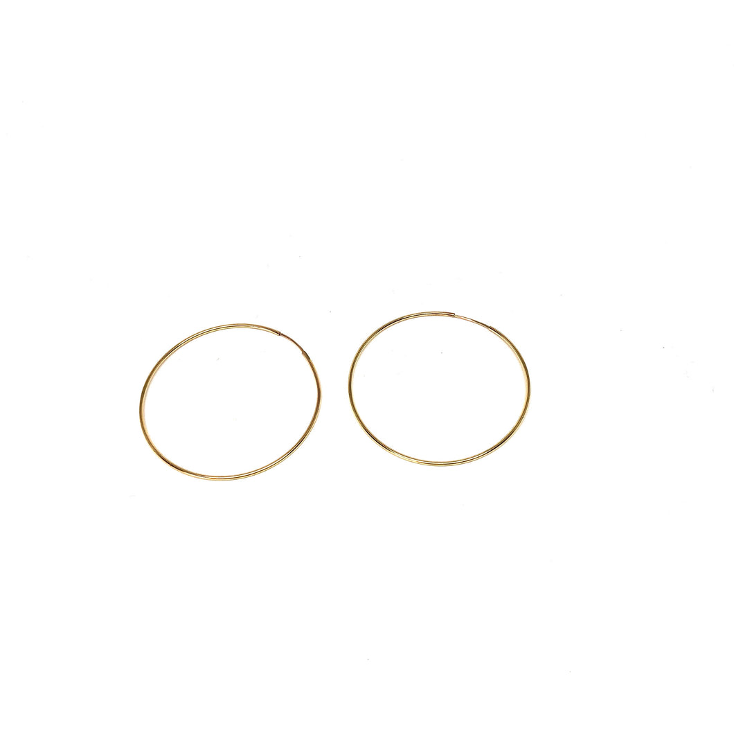 14K Gold Filled Thin Hoop Earrings, Thin Hoop Earrings ,Topaz Jewelry