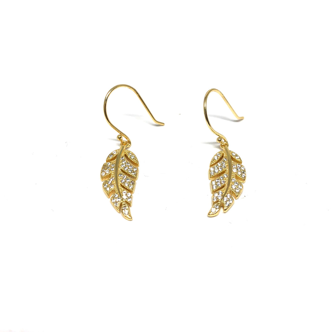 Leaf Earrings - Topaz Custom Jewelry