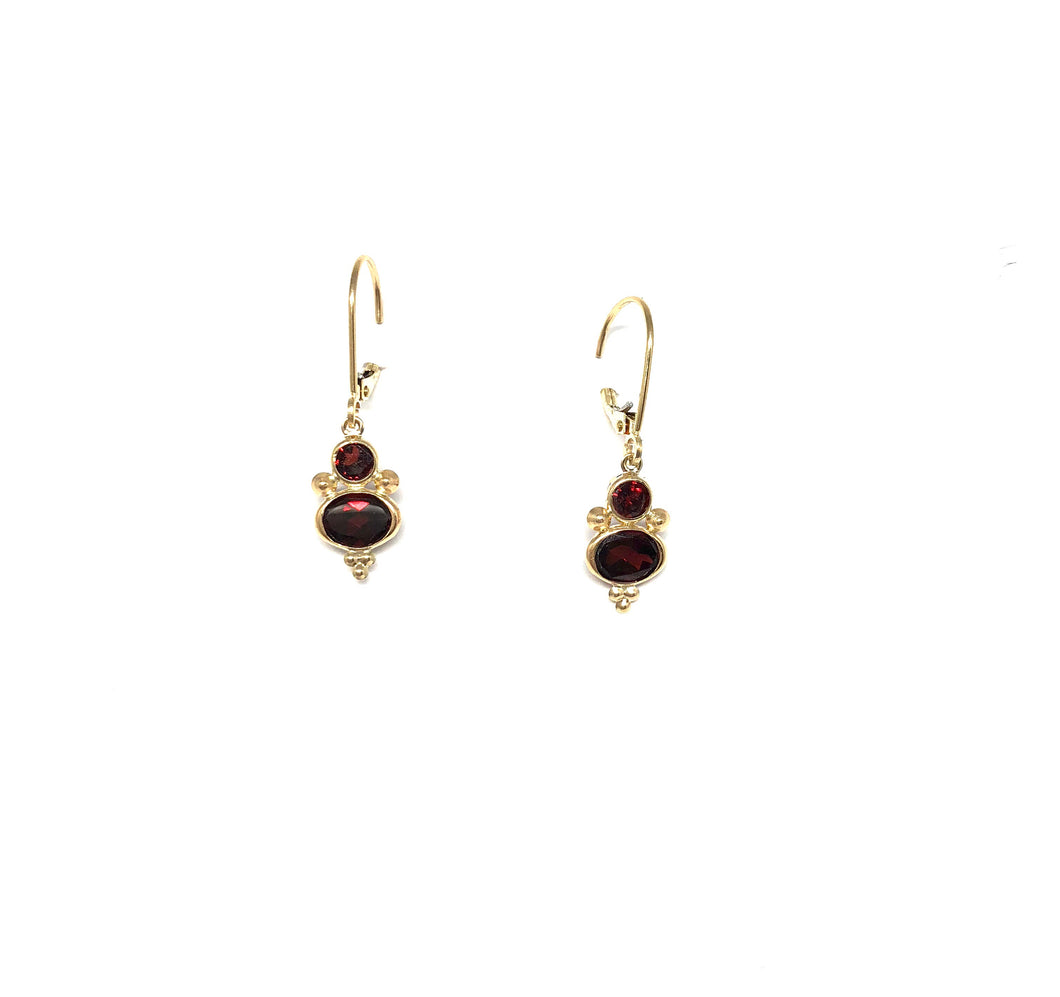 Garnet Earrings - Topaz Custom Jewelry