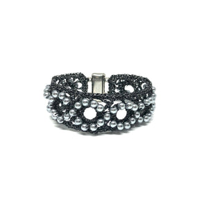 Black Crochet Bracelet - Topaz Custom Jewelry
