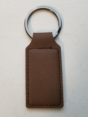 Leather Keychains with Equestrian Engraved Artwork