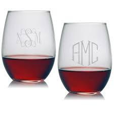Strahl Engraved Acrylic Wine Glass- Stemless