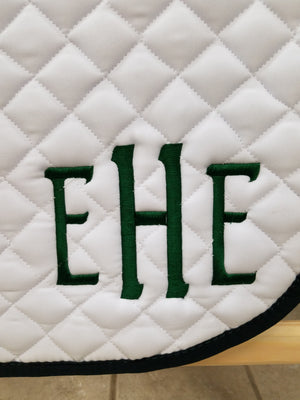 Embroidered Heavy Duty Saddle Pads