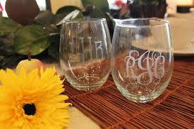 Strahl Engraved Acrylic Wine Glasses- Stemless-Set of 4
