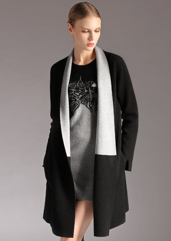 knit cashmere coat