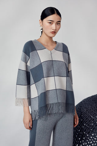 Extra thick check-pattern 100% jumper