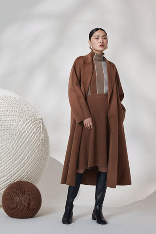 100% cashmere reversible double-breasted coat