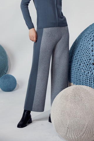 Extra thick straight cut 100% cashmere trousers