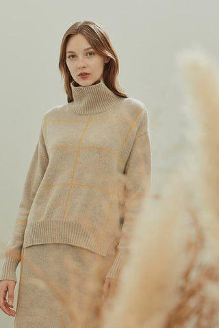 Turtle neck pure cashmere jumper