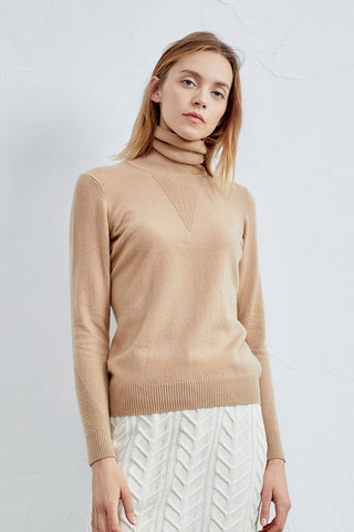 Double-lapel neck cashmere sweater