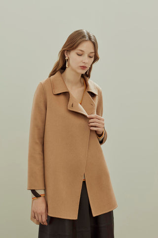 Single breasted 100% cashmere coat