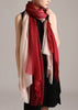 Double layer cashmere scarf