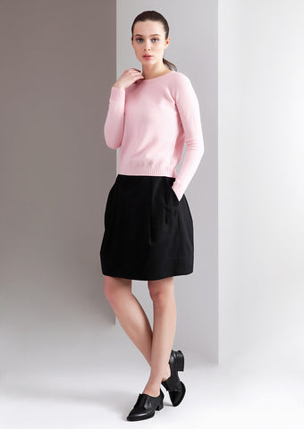 Ladies Rounded Neck Cashmere Sweater