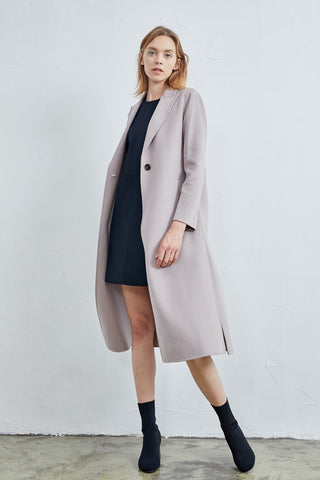 Pure cashmere long coat