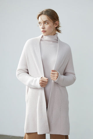 Thick woman's cashmere cardigan