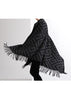 Woven Jacquard Pattern Throw/Cape