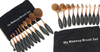 10 PIECE Black and Gold Oval Brush Set - 99 SANTA