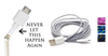 2 Pack: 10 Feet Fiber Cloth Sync & Charge USB Android Cable - Assorted Colors - 99 SANTA