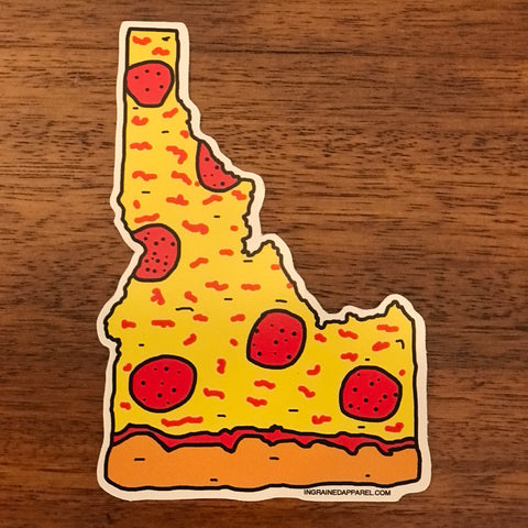Idaho Pepperoni Pizza Sticker