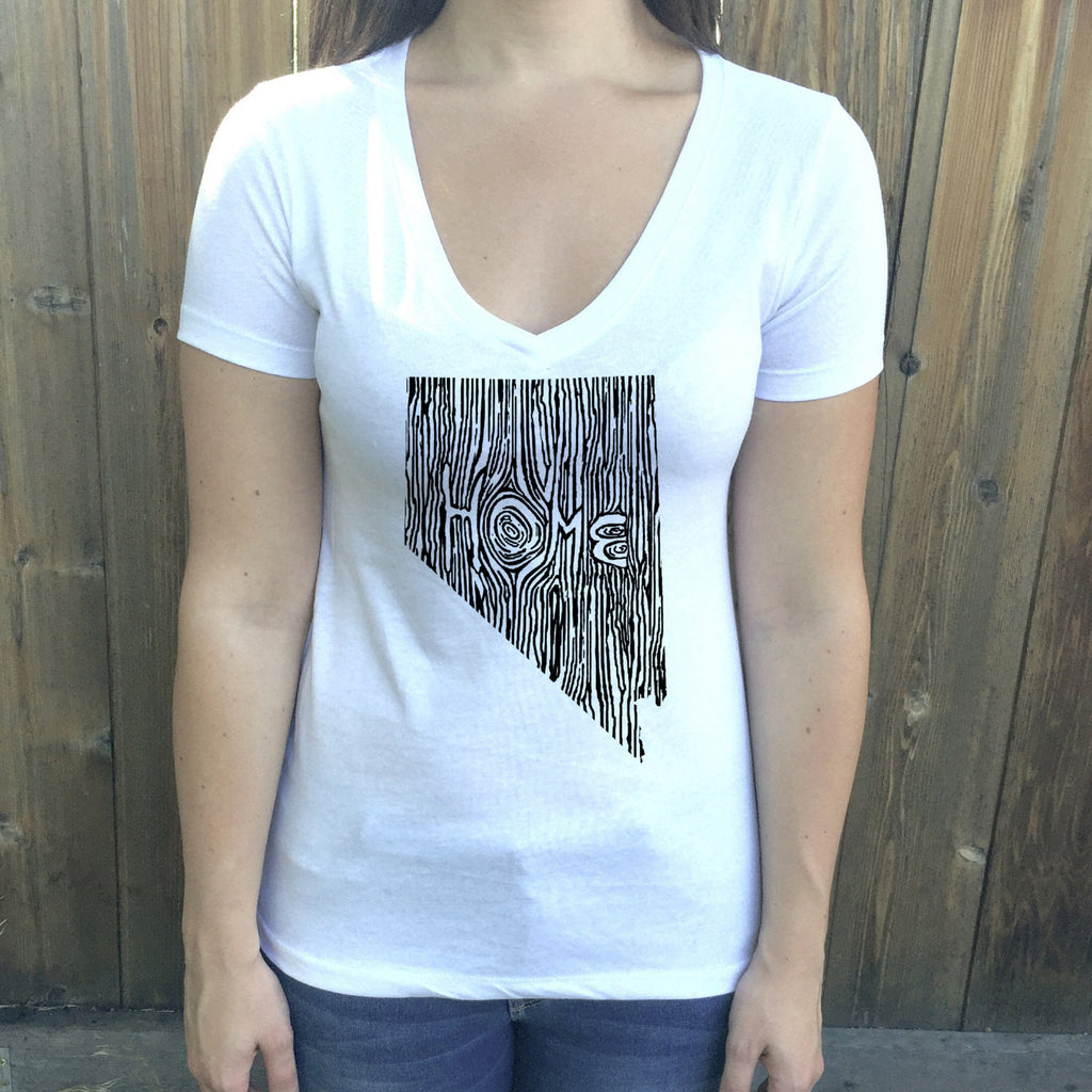 Nevada Ingrained State Women's V-Neck T Shirt
