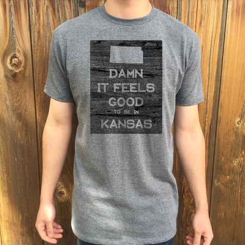 Kansas Damn it Feels Good Unisex T shirt
