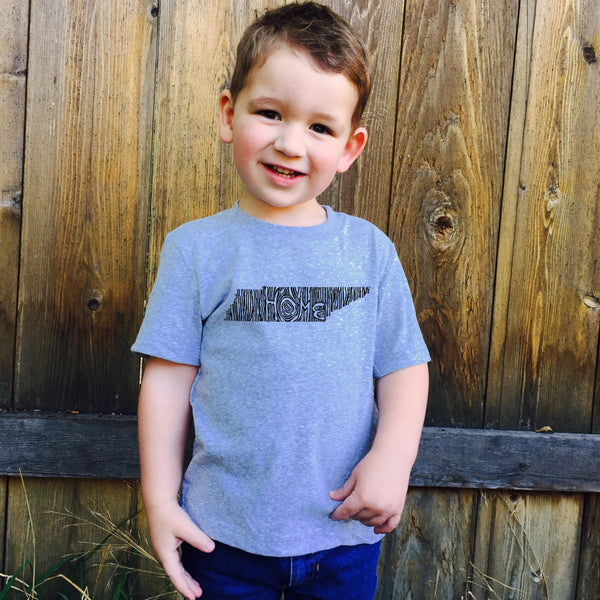Kids Tennessee Ingrained State T shirt