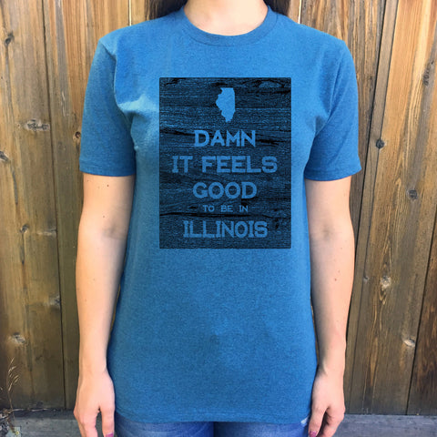 Illinois Damn it Feels Good Unisex T shirt