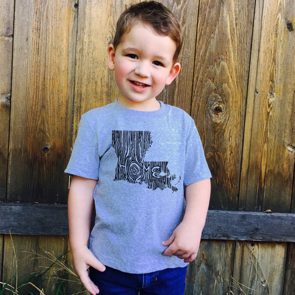 Kids Louisiana Ingrained State T shirt