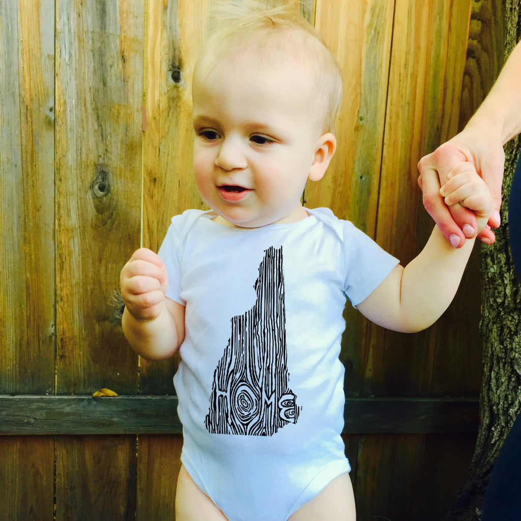 Ingrained New Hampshire Baby bodysuit