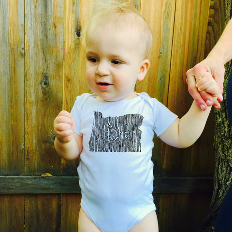 Ingrained Oregon Baby bodysuit