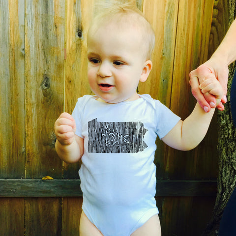 Ingrained Pennsylvania Baby bodysuit
