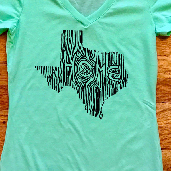 Texas Ingrained State Women's V-Neck T Shirt