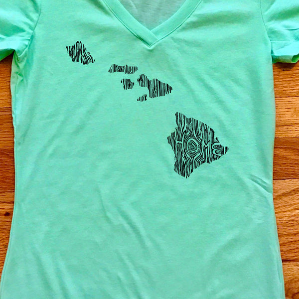 Hawaii Ingrained State Women's V-Neck T Shirt