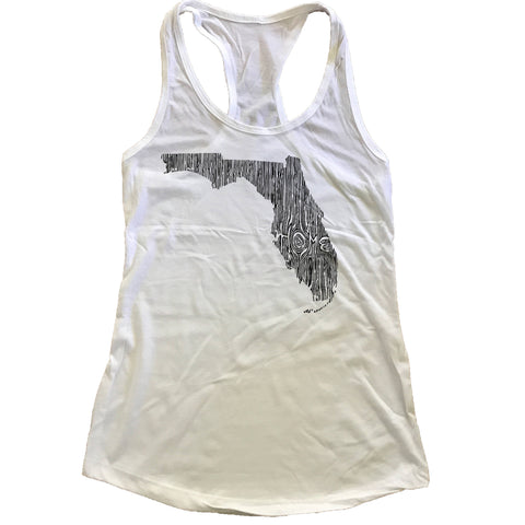 Florida Ingrained State Women's Racerback Tank Top