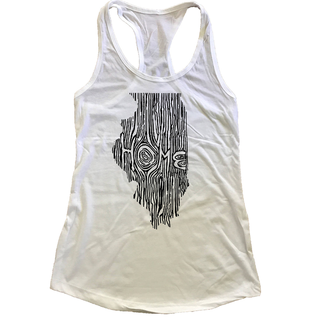 Illinois Ingrained State Women's Racerback Tank Top