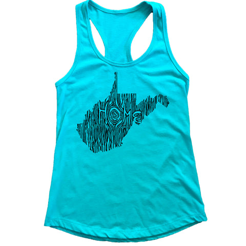 West Virginia Ingrained State Women's Racerback Tank Top