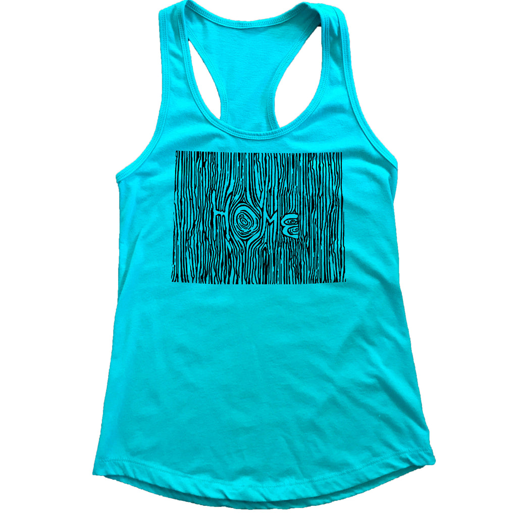 Wyoming Ingrained State Women's Racerback Tank Top
