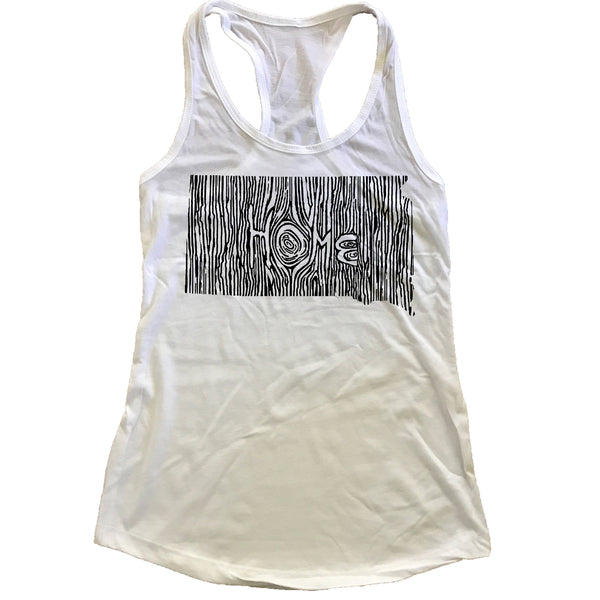 South Dakota Ingrained State Women's Racerback Tank Top