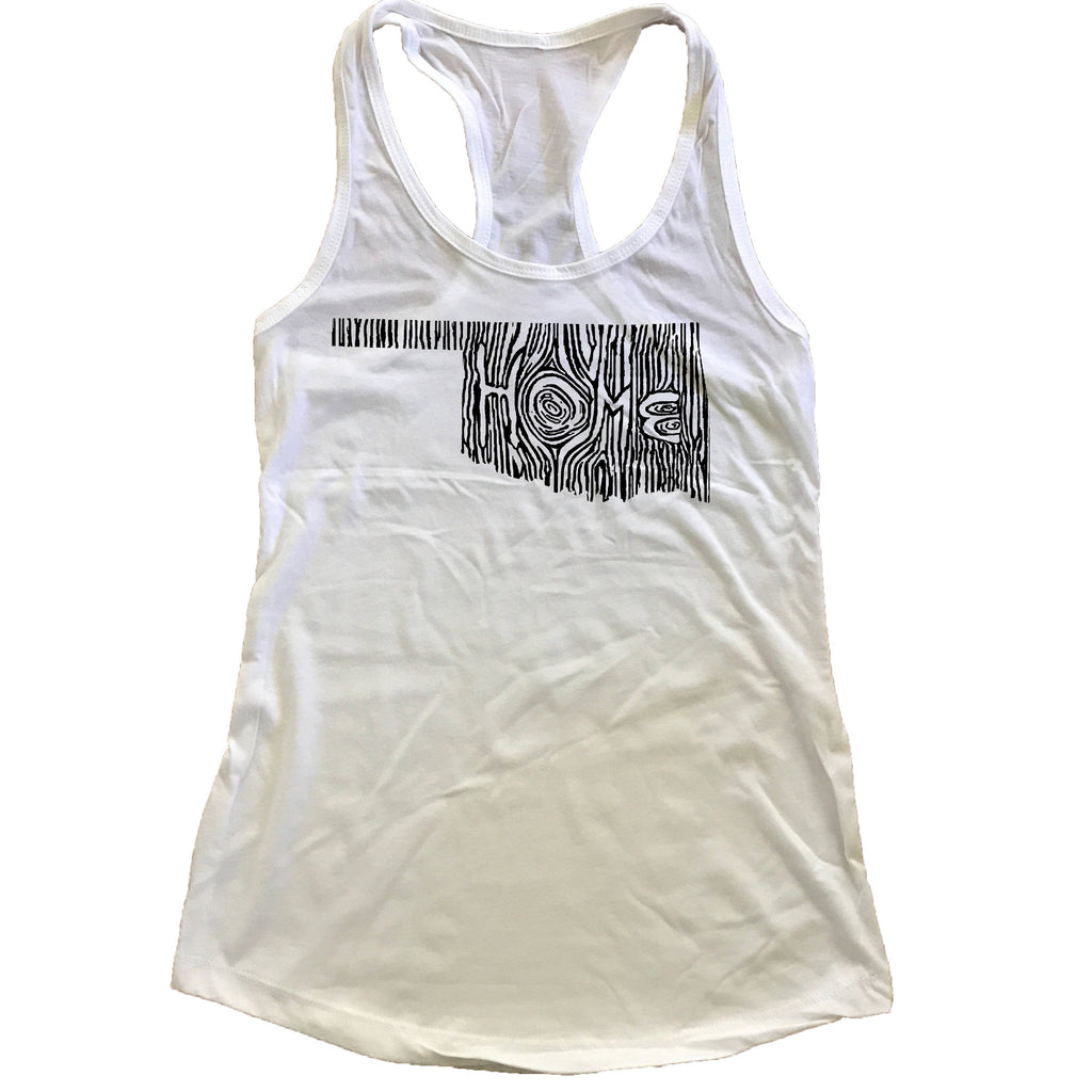 Oklahoma Ingrained State Women's Racerback Tank Top