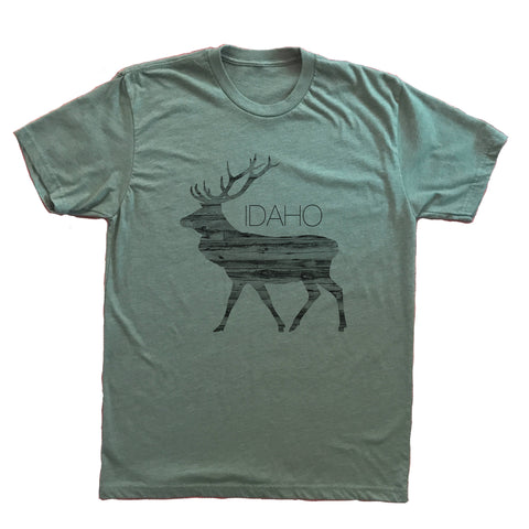 Ingrained Idaho Elk Unisex Shirt