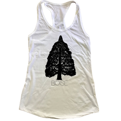 Boise Idaho Sequoia Women's Racerback Tank Top