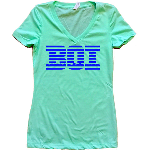 Boise Idaho BOIBM Women's V-Neck Shirt