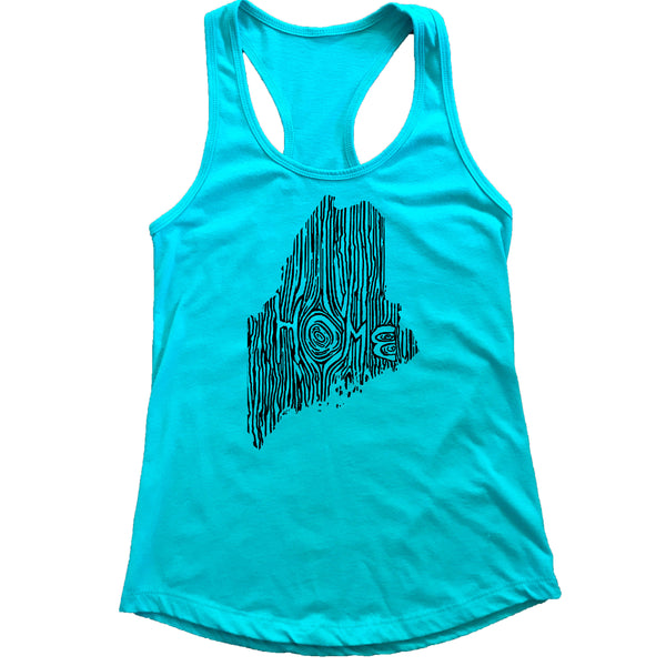 Maine Ingrained State Women's Racerback Tank Top