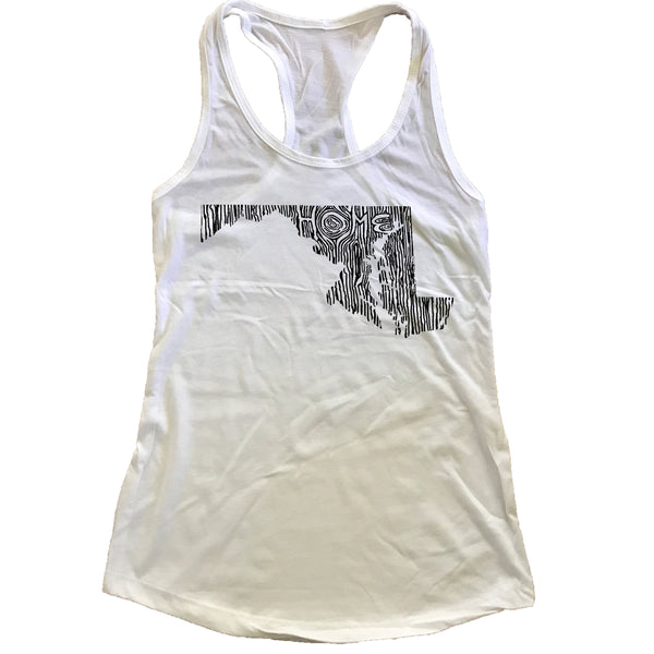 Maryland Ingrained State Women's Racerback Tank Top