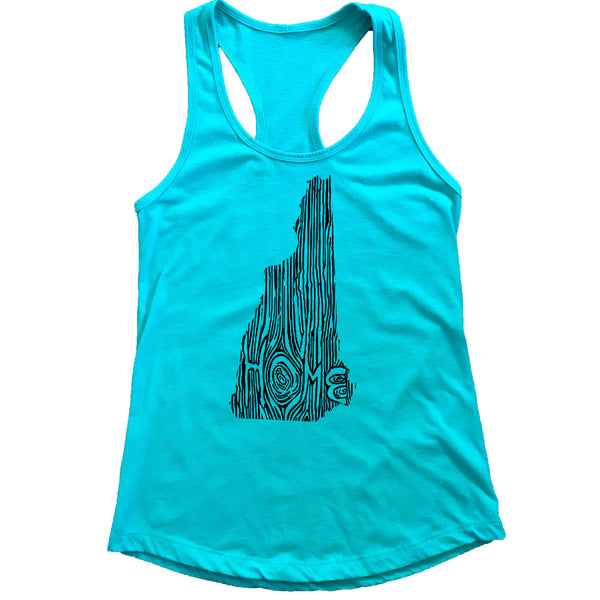 New Hampshire Ingrained State Women's Racerback Tank Top