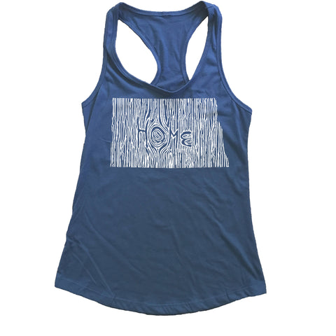 North Dakota Ingrained State Women's Racerback Tank Top