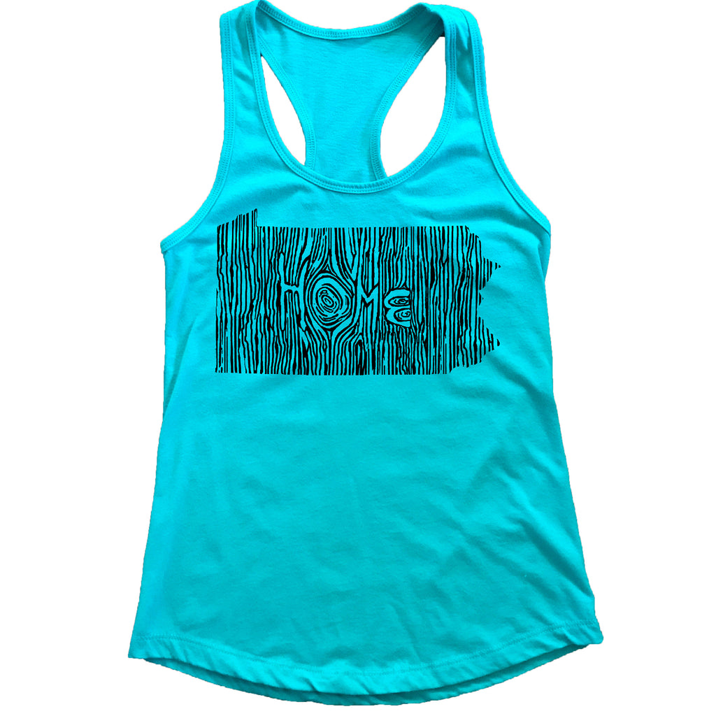 Pennsylvania Ingrained State Women's Racerback Tank Top