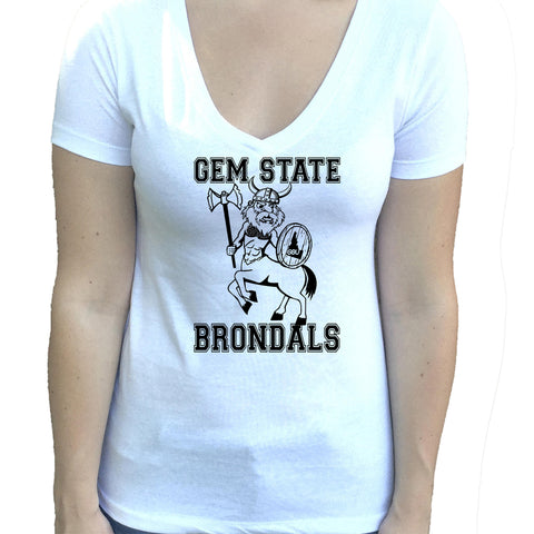 Gem State BrondalS Women's Idaho V-Neck Shirt