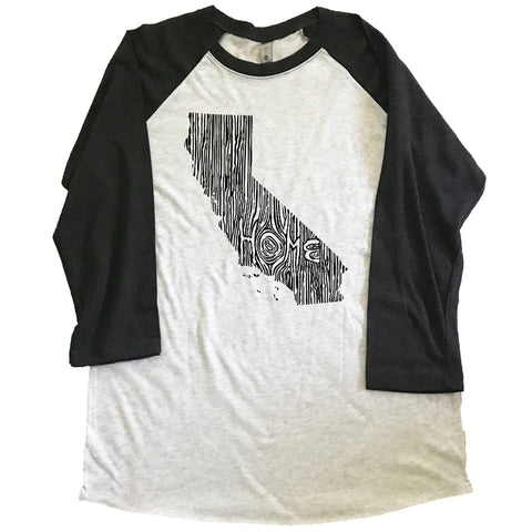 California Ingrained State Unisex Triblend Raglan Baseball T-shirt
